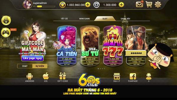 game bai doi thuong 60s online